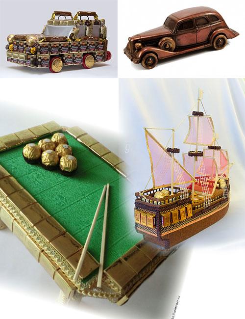 сладкие сувениры из шоколада и конфет