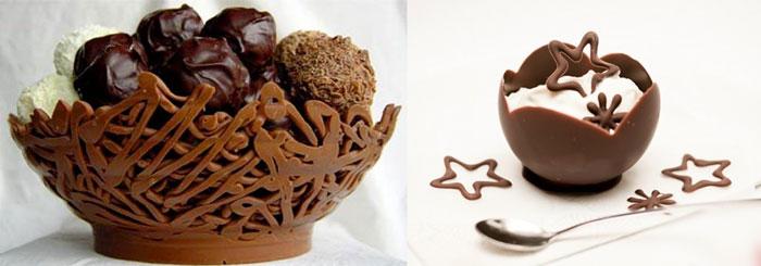 Шоколадные вазочки
