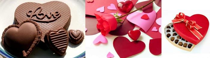 Валентинки из шоколада и бумаги