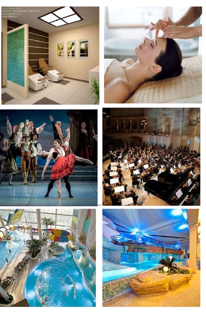 СПА, концерт, бассейн, балет