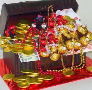 Сундук как подарок для денег