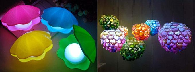 Светильники в форме жемчужины