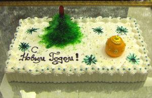 Новогодний торт коллективу