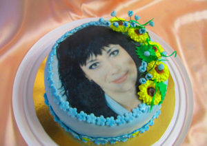 Торт с принтом для начальницы