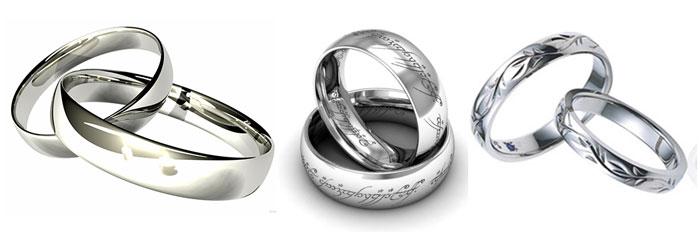 Серебрянные кольца на свадьбу