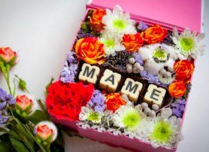 Коробка цветов маме