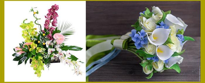Букеты с калами и орхидеями