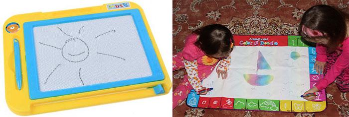 Магнитная доска для рисования и коврик для рисования водными фломастерами