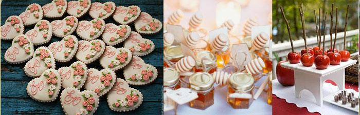 Мед и сладкие средечки в глазури