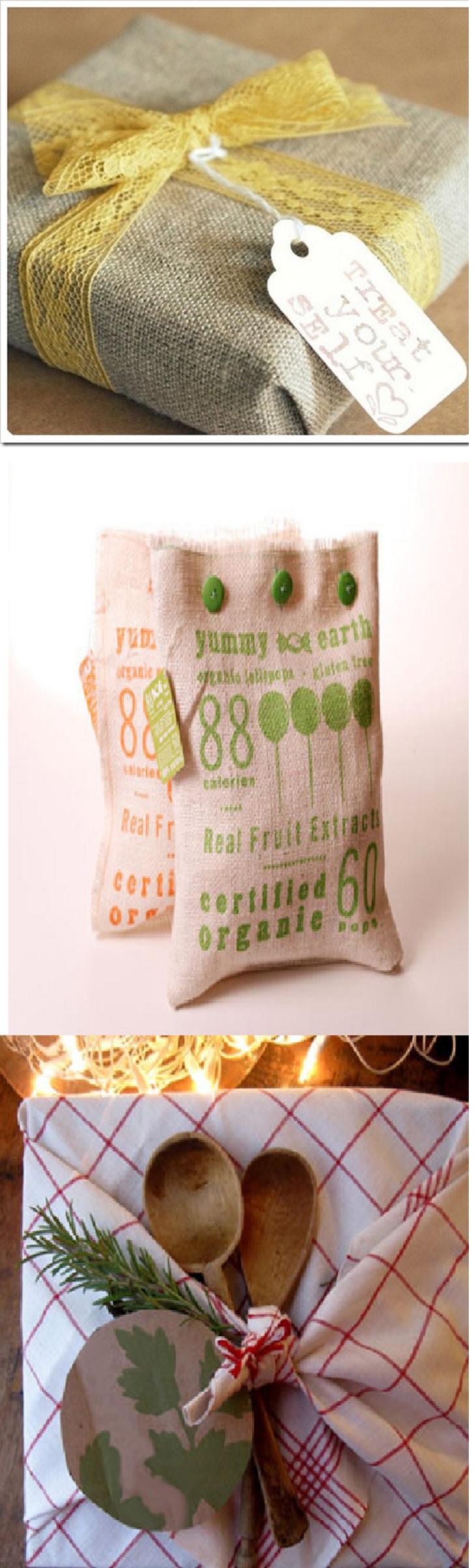 Варианты упаковки из ткани