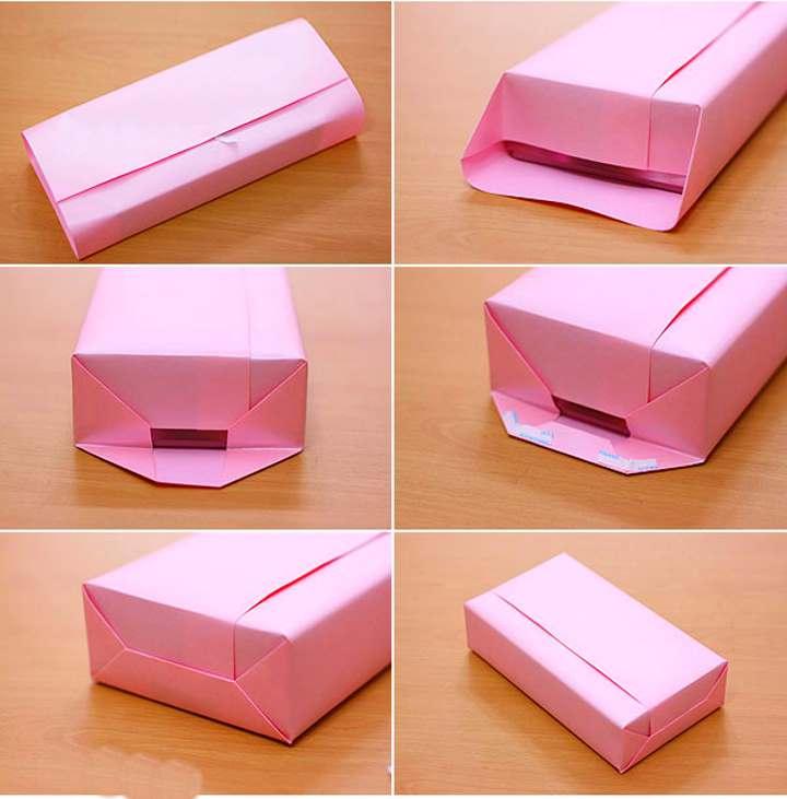 Упаковка обычной коробки
