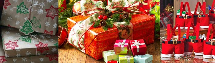 Виды новогодних упаковок
