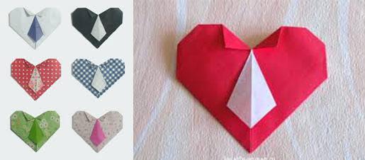 Самодельные сердечки с галстуком