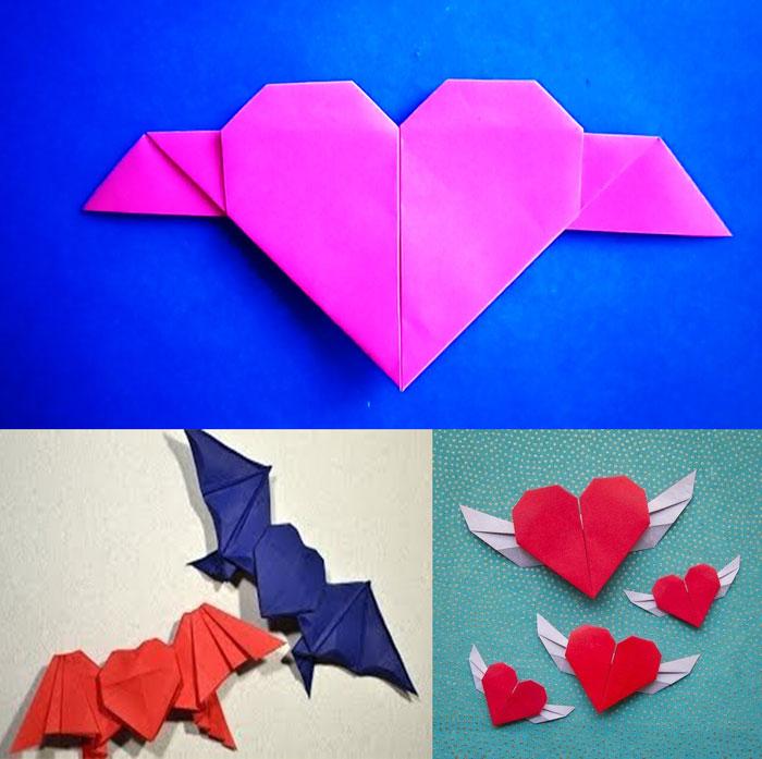 Самодельные сердечки с крылышками