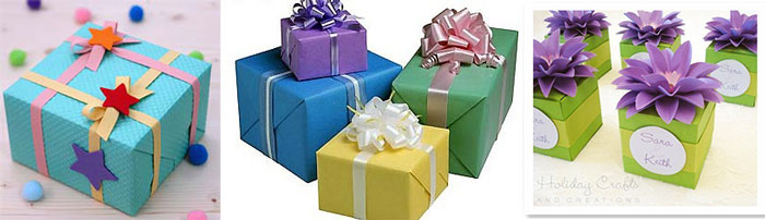 Виды упаковки подарка