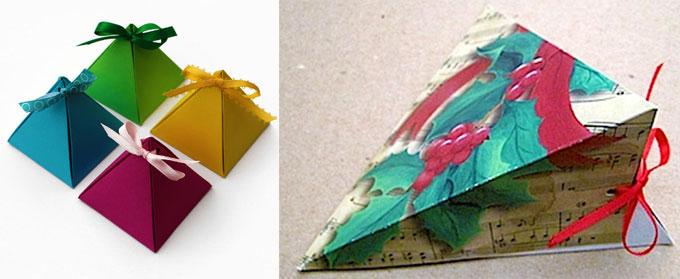 Упаковка пирамидка для подарка