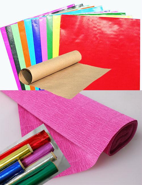 Упаковочная бумага: глянцевая, крафт и гафрированная
