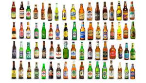 Множество видов пива