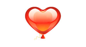 Воздушный шар в виде сердца