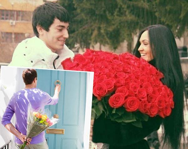 Дарение букетов цветов