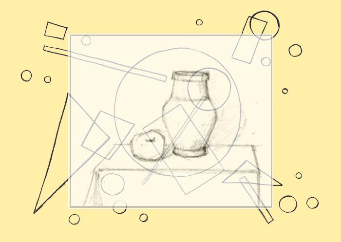 Абстракция ваза и фигуры