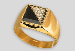 Красивая золотая печатка