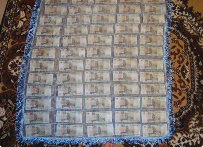 поздравление плед из денег на свадьбу постарались