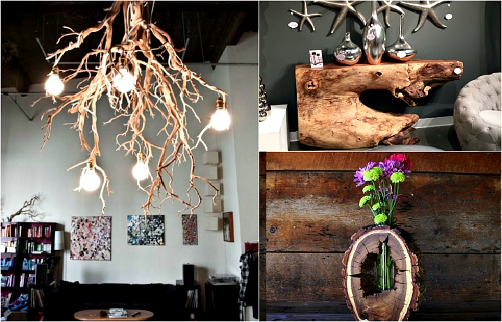 Деревянные предметы декора