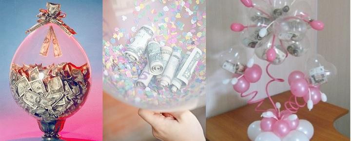 Поздравление на свадьбу с деньгами в шарах