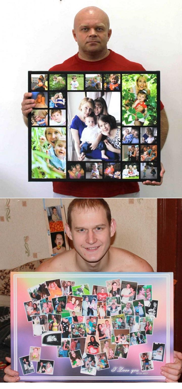 Фотоколлажи на стенде и на подушке