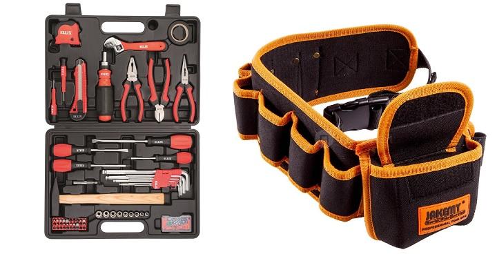 Набор инструментов и пояс-органайзер к ним