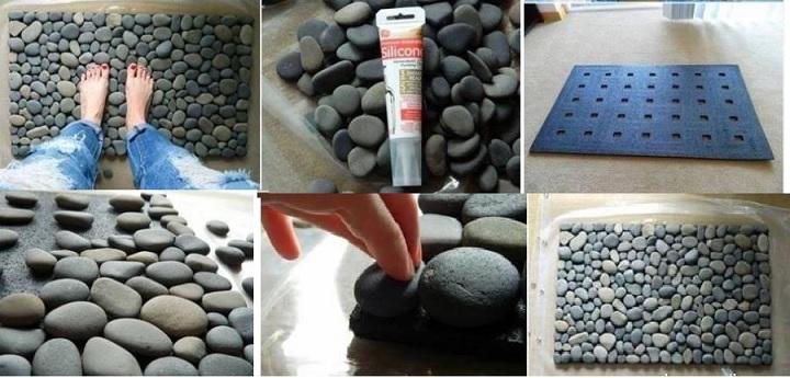 Ковер из камней сделать самим