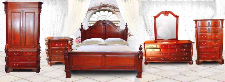 Спальный гарнитур из красного дерева