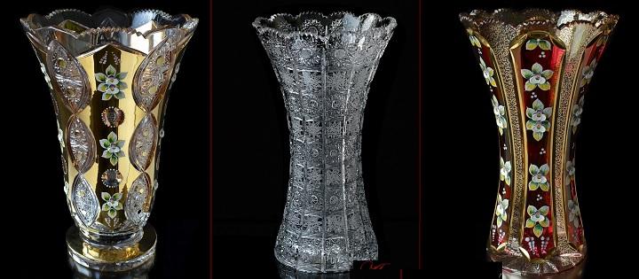 Напольные хрустальные вазы