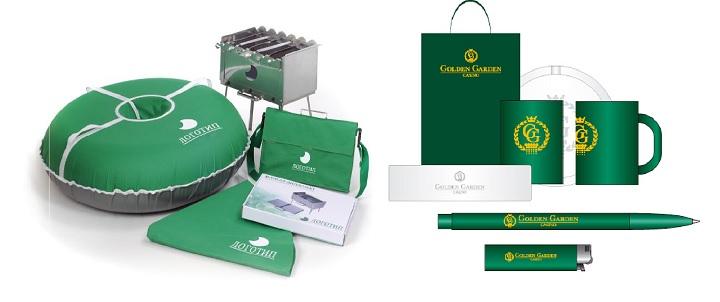 Корпоративные сувениры в зеленом цвете