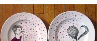 Парные кружки и тарелочки