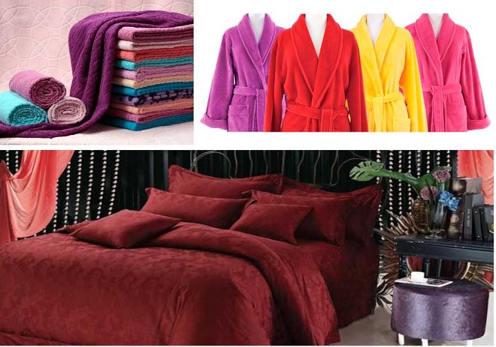 Полотенца, халаты, постель