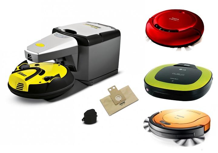Робот-пылесос в разных цветах
