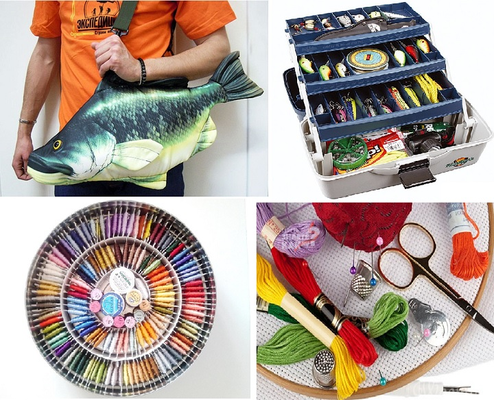 Подарки рыбаку и рукодельнице