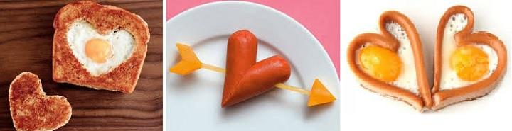 Сердце, сделанное из разных продуктов