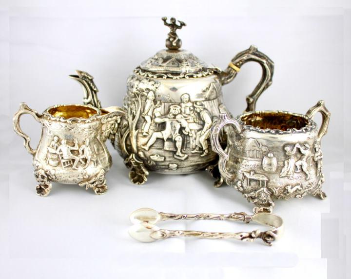 Серебряный сервиз для чая