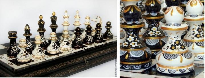 Шахматы с росписью