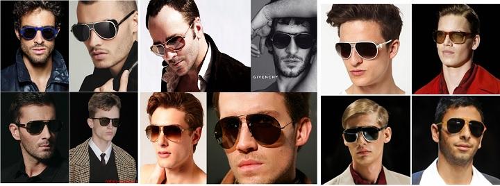 Солнечные очки на моделях