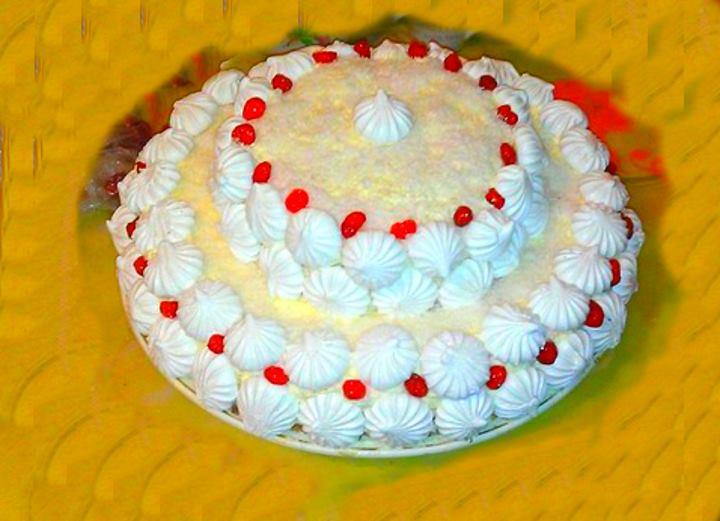 Двухярусный зефирный торт