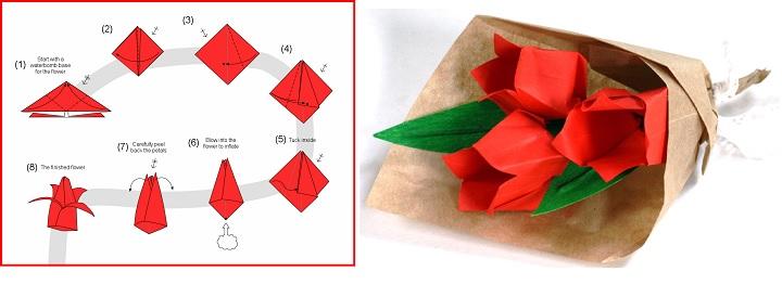 Тюльпан в оригами