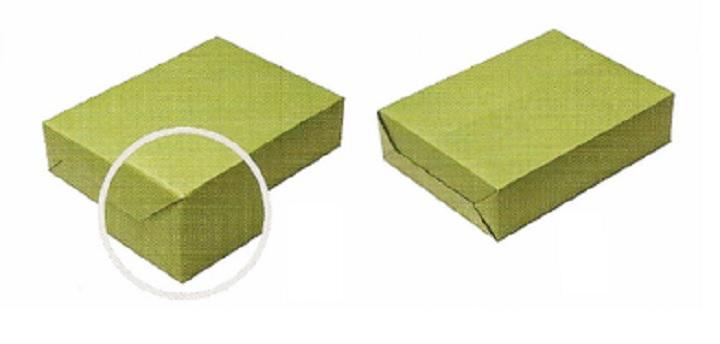Упакованная прямоугольная коробка