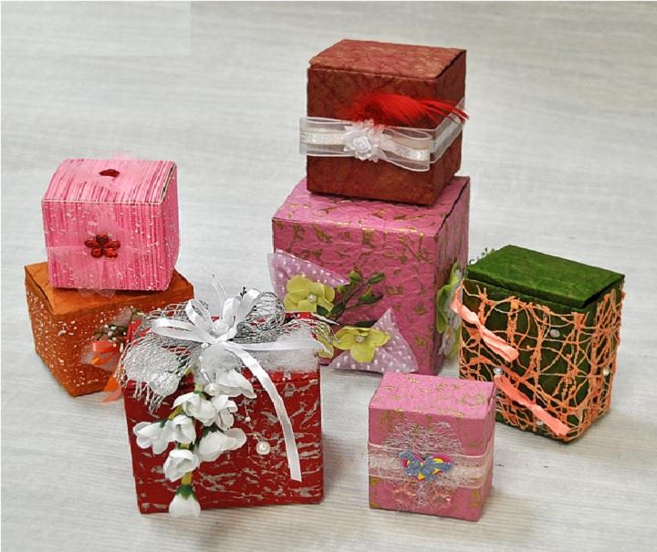 Варианты упакованных коробок