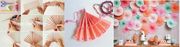 Веер из оригами