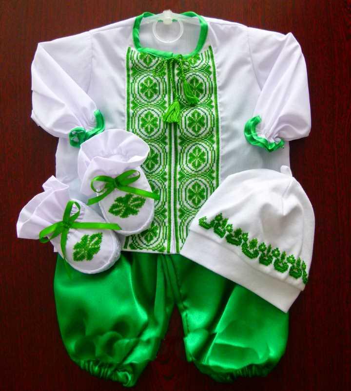 Зеленый крестильный набор