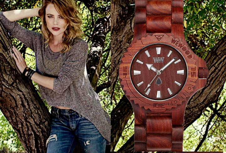 Часы из красного дерева